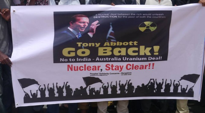 Protest against India – Australia Uranium Deal.
