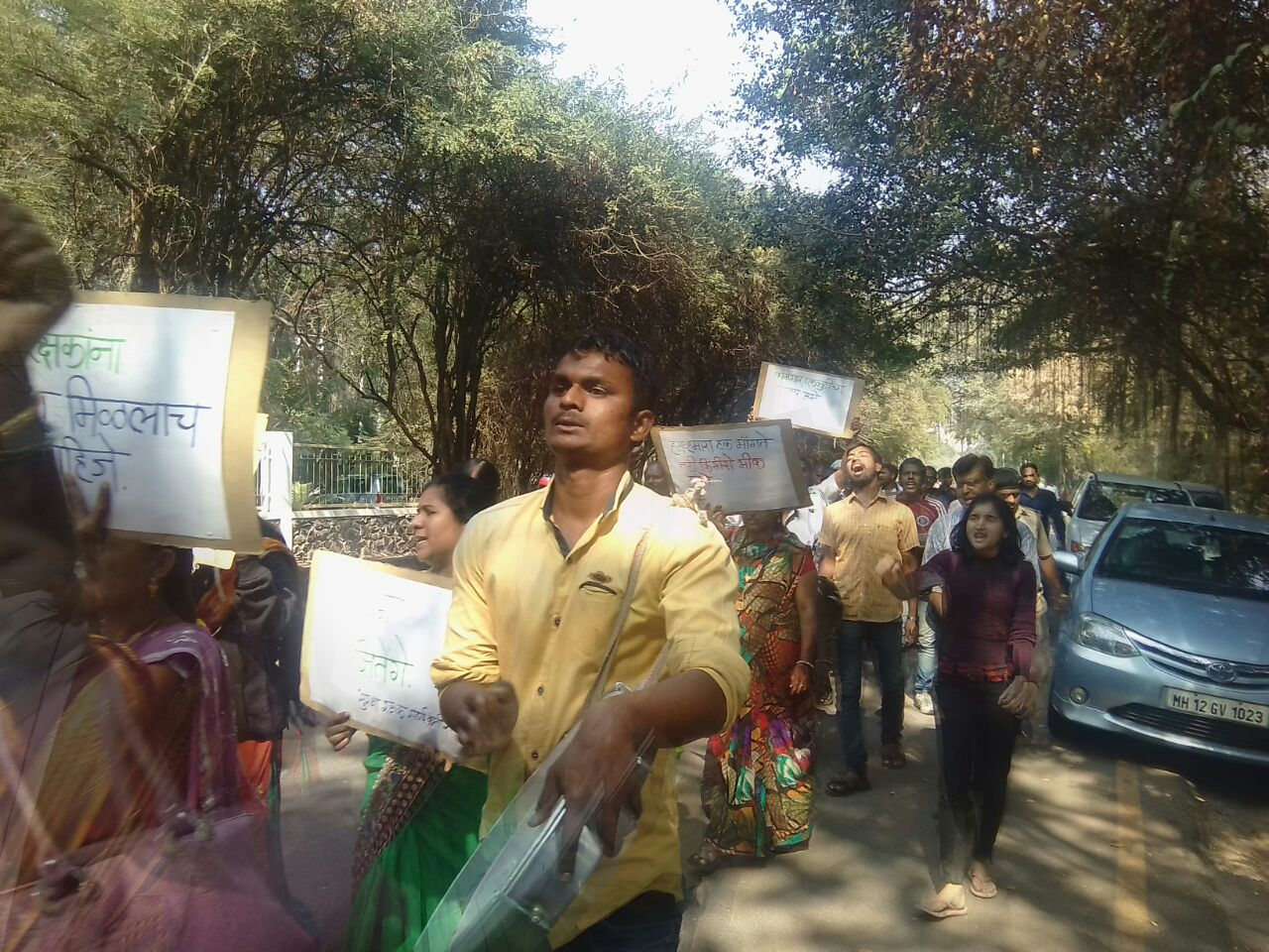 Pune University Security Guard's Strike