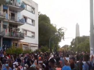 Protest in Havana, 12 July 2021 (Photo: Wikimedia Commons)